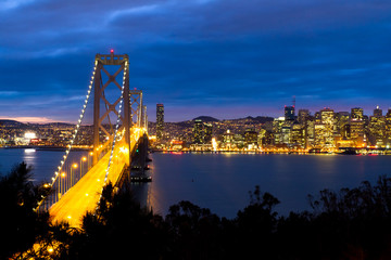 Bay Bridge with San Francisco City view