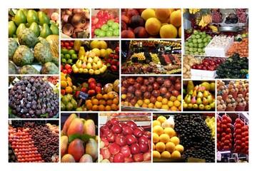 Collage Obst und Gemüse