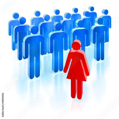 Frau - Führungsposition