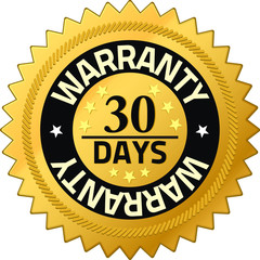 Warranty 30 days Quality Guarantee Badges