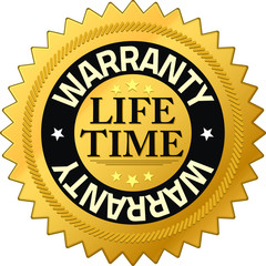 Warranty lifetime Quality Guarantee Badges
