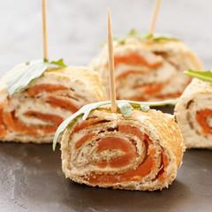 amuse bouche galette saumon tartare 3