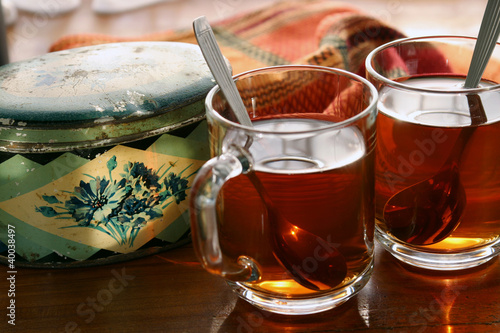 Tea in soft warm