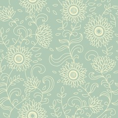 Light floral seamless pattern for retro wallpapers
