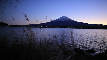 Mt Fuji in Japan at Sunset (mix)