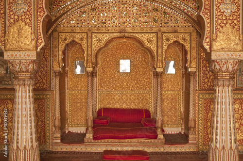 Throne Room in Bikaner Palace, Rajasthan, India