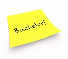 Notizzettel - Bachelor!