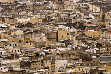 Roofs of the historic city of Fes - detail