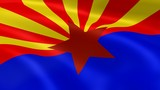 Arizonan flag in the wind