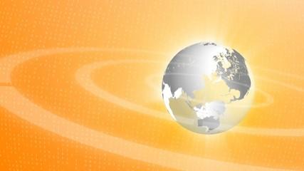 Globe Logo Ogange Style