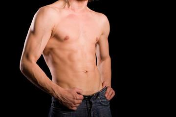 torso of young man