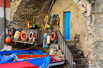 Riomaggiore Boats in Cinque Terre Italy