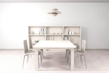 White modern dining