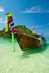 Sandy  causeway at tup and chicken island, Krabi, Thailand