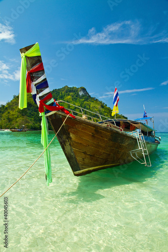 Sandy  causeway at tup and chicken island, Krabi, Thailand