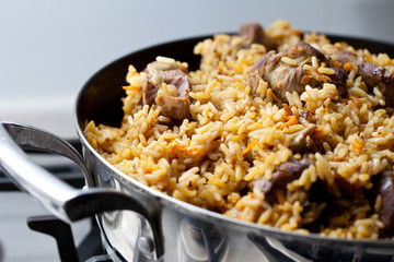 Pilaf (meat of a ram paella)