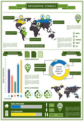 Detail info graphic with ecological symbols