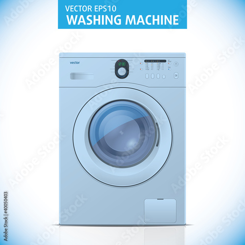Closed washing machine. Vector