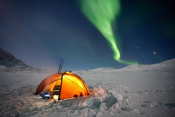 Expedition über dem Polarkreis