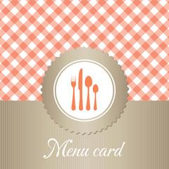 elegant restaurant menu card
