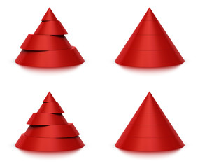 diagramme pyramidal 4 et 5 niveaux