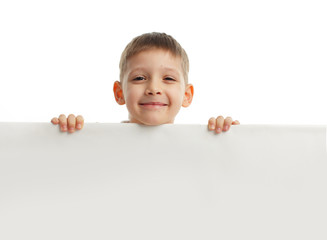 Child with empty blank