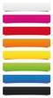 Étiquettes multicolores hachurées