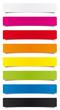 Étiquettes multicolores