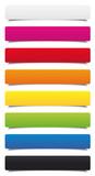 Fototapety Étiquettes multicolores hachurées