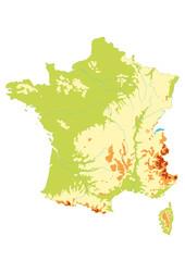 Carte de France - Relief
