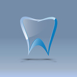 Logo dental glass and metal # Vector