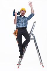 craftsman falling off a ladder