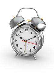 Old-fashioned alarm clock. 3d