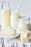 Fototapeta mleko - świeży - Produkt Mleczny