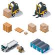 Vector warehouse equipment icon set