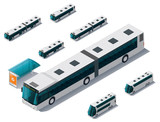 Vector isometric bus set