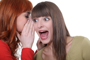 Women sharing a shocking secret