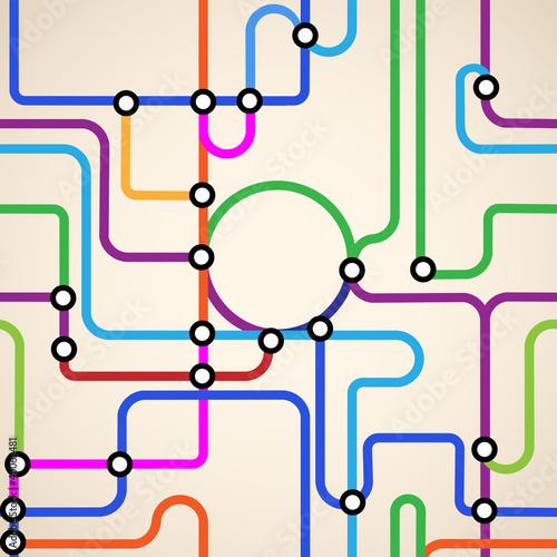 Foto op Plexiglas Op straat Abstract subway map seamless
