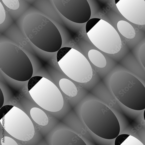 Oval embossed seamless abstract background.