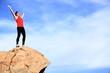 Success - winner reaching summit