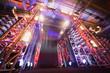 Leinwandbild Motiv Illuminated way to boxing ring inside fight club