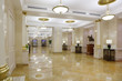 Light hall with marble floor in Hotel