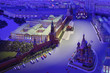 Model Moscow is capital of USSR - night Red Square