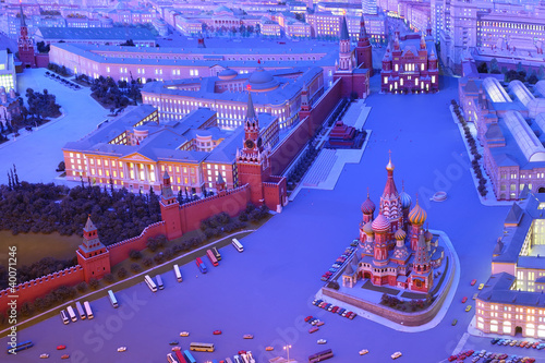 Model Moscow is capital of USSR - Red Square