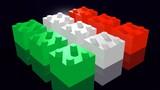 Italian flag made of Lego pieces - Bandiera italiana Lego poster