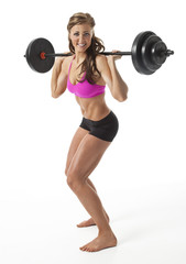 Pretty Female Weight Lifter