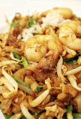 Penang Char Kway Teow Noodles with Prawn