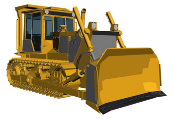 Bulldozer Vector 01