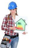young female heating engineer