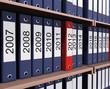 Стеллаж с годовыми отчетами и планами
